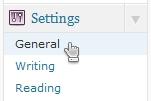 Select General Settings