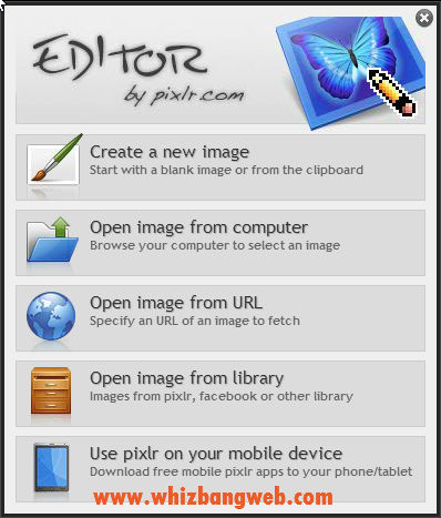 Open Pixlr Editor