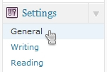 Select General Settings