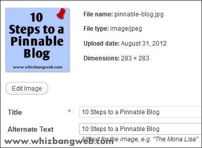 10 Steps to a Pinnable Blog: #4 Add Title Tags to EVERY image.